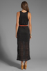 Image 4 of DV by Dolce Vita Lynnie Jersey Burnout Maxi Dress in Black
