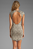 Image 4 of DV by Dolce Vita Betsey Stretch Rose Lace Dress in Nude/Black