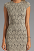 Image 5 of DV by Dolce Vita Betsey Stretch Rose Lace Dress in Nude/Black