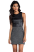 Image 1 of DV by Dolce Vita Maciee Checker Tweed Dress in Black/White