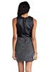 Image 4 of DV by Dolce Vita Maciee Checker Tweed Dress in Black/White
