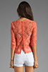 Image 2 of Dolce Vita Deidra Raised Lace Blouse in Coral