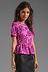 Image 3 of Dolce Vita Moray Vivaldi Top in Pink/Black