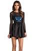 Image 1 of Donna Mizani Hologram Sweetheart Flounce Dress in Hologram