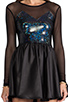 Image 5 of Donna Mizani Hologram Sweetheart Flounce Dress in Hologram
