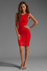 Image 2 of Donna Mizani Passion Lace Dress in Red