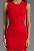 Image 5 of Donna Mizani Passion Lace Dress in Red