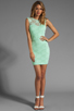 Image 2 of Donna Mizani Passion Lace Boat Neck Dress in Mint