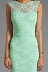 Image 5 of Donna Mizani Passion Lace Boat Neck Dress in Mint