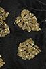 Image 6 of DRESS THE POPULATION Ellen Long Sleeve Chiffon Dress in Gold/Black