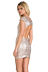 Image 1 of DRESS THE POPULATION Gabriella Dress in Champagne