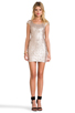 Image 2 of DRESS THE POPULATION Gabriella Dress in Champagne
