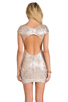 Image 4 of DRESS THE POPULATION Gabriella Dress in Champagne