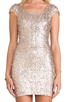 Image 5 of DRESS THE POPULATION Gabriella Dress in Champagne