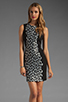 Image 1 of Diane von Furstenberg Tilda Dress in Black/Black/White