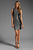 Image 2 of Diane von Furstenberg Tilda Dress in Black/Black/White