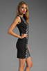 Image 3 of Diane von Furstenberg Tilda Dress in Black/Black/White