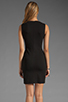 Image 4 of Diane von Furstenberg Tilda Dress in Black/Black/White