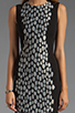 Image 5 of Diane von Furstenberg Tilda Dress in Black/Black/White