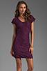Image 1 of Diane von Furstenberg Wanda Dress in Purple Rose