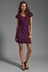 Image 2 of Diane von Furstenberg Wanda Dress in Purple Rose
