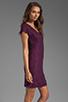 Image 3 of Diane von Furstenberg Wanda Dress in Purple Rose