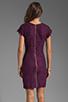 Image 4 of Diane von Furstenberg Wanda Dress in Purple Rose