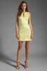 Image 2 of Diane von Furstenberg Sandine Balloon Metallic Jacquard Dress in Dandelion/Silver