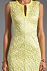 Image 5 of Diane von Furstenberg Sandine Balloon Metallic Jacquard Dress in Dandelion/Silver