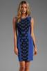 Image 1 of Diane von Furstenberg Franca Dress in Black/Vivid Blue