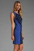 Image 3 of Diane von Furstenberg Franca Dress in Black/Vivid Blue
