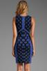 Image 4 of Diane von Furstenberg Franca Dress in Black/Vivid Blue