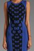 Image 5 of Diane von Furstenberg Franca Dress in Black/Vivid Blue