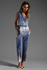 Image 2 of Diane von Furstenberg Kawena Jumpsuit in Shaded Curtain Navy