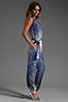 Image 3 of Diane von Furstenberg Kawena Jumpsuit in Shaded Curtain Navy