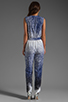 Image 4 of Diane von Furstenberg Kawena Jumpsuit in Shaded Curtain Navy