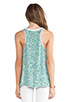 Image 3 of Diane von Furstenberg Emilia Marble Sequins Top in Green