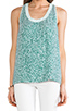 Image 4 of Diane von Furstenberg Emilia Marble Sequins Top in Green