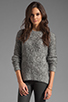 Image 1 of Elizabeth and James Raglan Pullover Sweater in Grey
