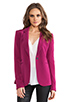Image 1 of Elizabeth and James Rex Blazer with Colored Lining in Raspberry