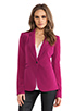 Image 2 of Elizabeth and James Rex Blazer with Colored Lining in Raspberry