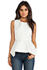 Image 1 of Elizabeth and James Yumi Peplum Top in Ivory