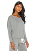 Image 2 of eberjey Heather Slouchy Tee in Heather Gray