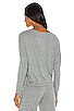 Image 3 of eberjey Heather Slouchy Tee in Heather Gray