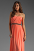 Image 1 of ERIN erin fetherston Skyscraper Gown in Fusion Coral