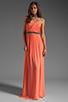 Image 2 of ERIN erin fetherston Skyscraper Gown in Fusion Coral