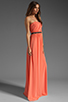 Image 3 of ERIN erin fetherston Skyscraper Gown in Fusion Coral