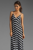 Image 1 of Eight Sixty Stripe Maxi in Scour/Black