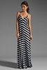 Image 2 of Eight Sixty Stripe Maxi in Scour/Black
