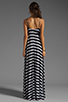 Image 4 of Eight Sixty Stripe Maxi in Scour/Black